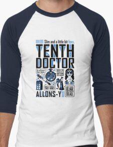 The Tenth Doctor Men's Baseball ¾ T-Shirt