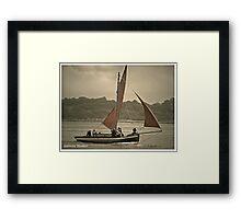 Galway hooker Framed Print