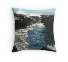 Sea meets land 5 Throw Pillow