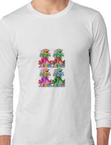 Funky hedgehog pop art Long Sleeve T-Shirt