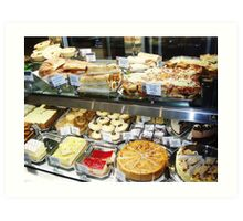 Shopfront - Cakes and Pastries Art Print