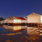 Low Tide At Mosman Bay Boatsheds  by EOS20
