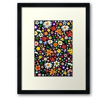 Spring Flowers Pattern Framed Print