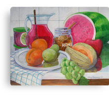 Honey and Fruit Canvas Print