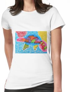 Funky platypus Womens Fitted T-Shirt