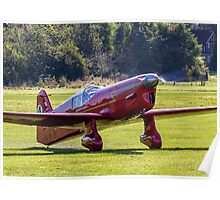 Percival Mew Gull replica G-HEKL taxies in Poster