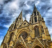 Paris - Sainte-Clotilde Basilica frontage by jean-louis bouzou