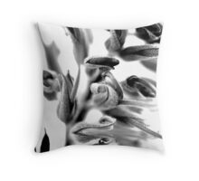 Mono Grevillea Throw Pillow