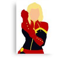 Captain Marvel Simplistic Canvas Print