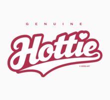 GenuineTee - Hottie (white/pink) by GerbArt