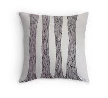 Tree Line Throw Pillow