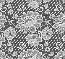 White Lace Seamless Pattern. by Laces