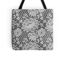 White Lace Seamless Pattern. Tote Bag