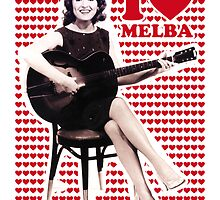 COUNTRY STAR MELBA MONTGOMERY PRINT POSTER by westox