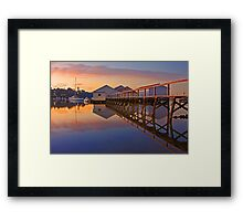 Low Tide Mosman Bay Boatshed At Dusk  Framed Print