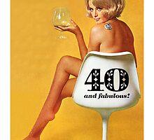 GREETING CARD HAPPY 40TH BIRTHDAY #1 by westox