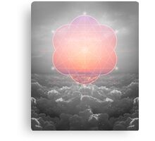 The Sun Is But A Morning Star (Mono Geometric Sunrise) Canvas Print