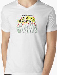 Sunflowers in a Garden Mens V-Neck T-Shirt