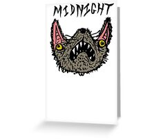 Midnight White Greeting Card