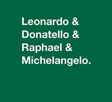 Leonardo & Donatello & Raphael & Michelangelo. Womens Fitted T-Shirt