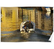 Boat in a Canal Poster