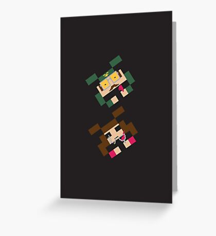 SPACED INVADERS (MIKE & MARSHA) Greeting Card