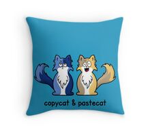 Copycat & Pastecat Throw Pillow