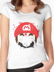 Super Mario Splash  Women's Fitted Scoop T-Shirt