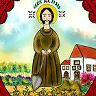 "SAINT FIACRE ""Patron of Gardeners"" by Frances Perea"