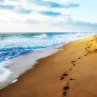 Footprints In The Sand by Trudy Wilkerson