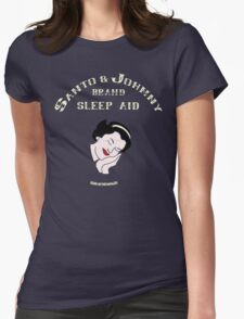 Santo & Johnny Brand Sleep Aid Womens Fitted T-Shirt