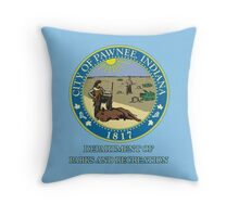 Pawnee Indiana Parks and Recreation Throw Pillow