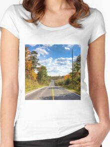 Autumn Road to Nowhere Women's Fitted Scoop T-Shirt