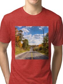 Autumn Road to Nowhere Tri-blend T-Shirt