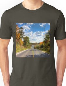Autumn Road to Nowhere Unisex T-Shirt