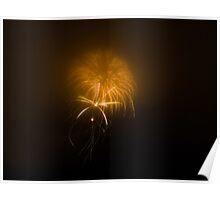 Firework Jellyfish Poster
