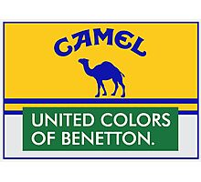 Camel Benetton Racing logo Photographic Print