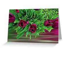 Maroon Tulips Greeting Card