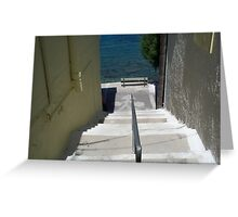 Steps To The Aegean... Greeting Card