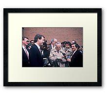 Al Gore & Reporters  Framed Print