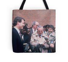 Al Gore & Reporters  Tote Bag