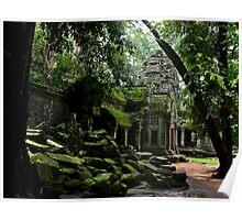 Ta Prohm Temple III - Angkor, Cambodia. Poster