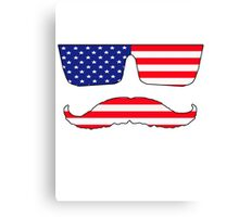 Cool mustache patriot  Canvas Print
