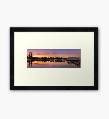 Mosman Bay At Dusk  Framed Print