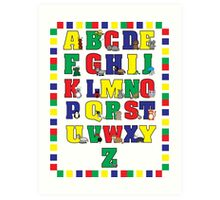 Animal Alphabet Poster (Primary Colors) Art Print