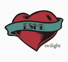 Twilight Esme Heart Tattoo T-Shirt by fifilaroach