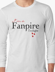 Twilight I'm a Fanpire T-Shirt Long Sleeve T-Shirt