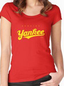 GenuineTee - Yankee (yellow) Women's Fitted Scoop T-Shirt