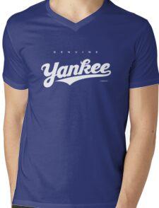 GenuineTee - Yankee (white) Mens V-Neck T-Shirt