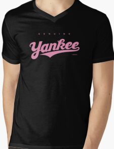 GenuineTee - Yankee (purple) Mens V-Neck T-Shirt